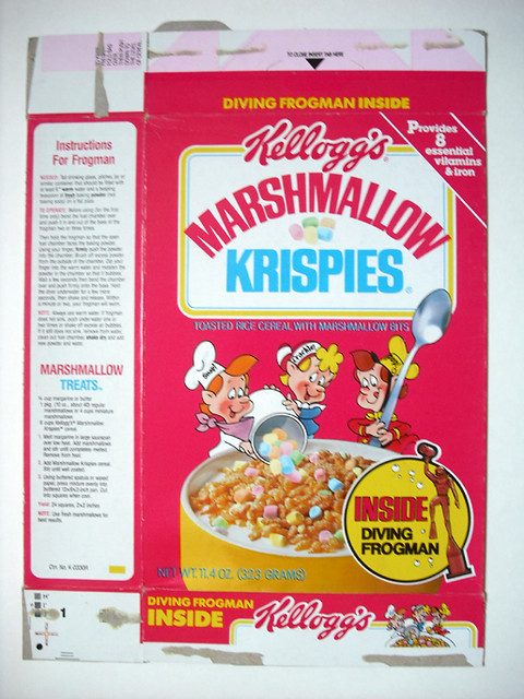 1985 Kellogg's Marshmallow Krispies Cereal Box Front | Flickr - Photo ...