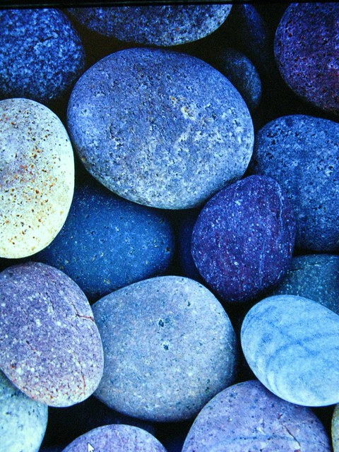 Outdoor Blue Pebbles : Blue pebbles flickr photo sharing