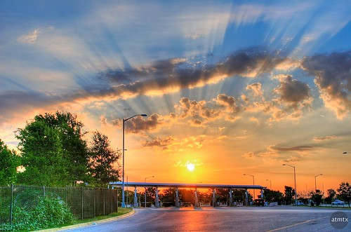 20d sunrise canon austin airport texas canon20d exit hdr tollbooth austinbergstromairport