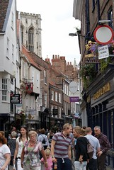 A busy street in York