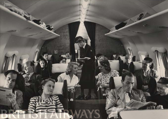 1940s - BOAC Handley Page Hermes, passenger cabin