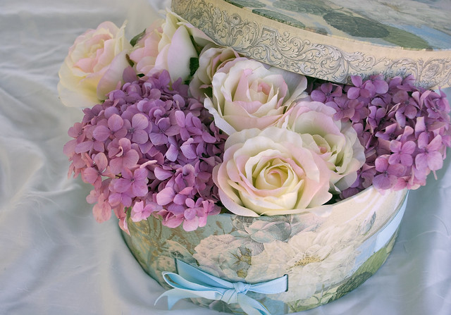 Hydrangeas and roses