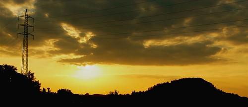 sunrise soleil couché marcinelle terrils