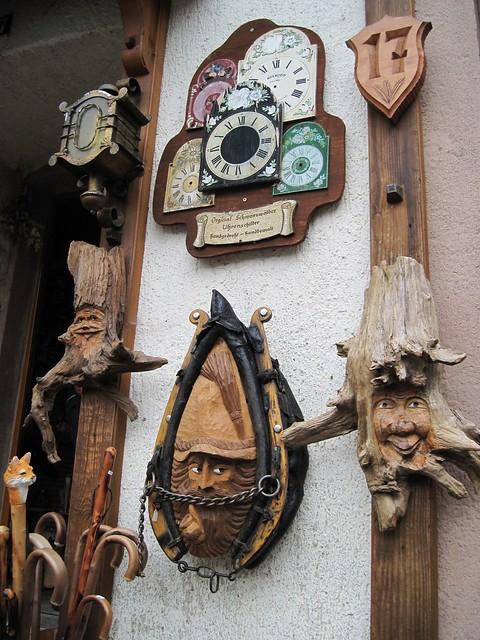 Triberg, traditional wooden carved craftworks