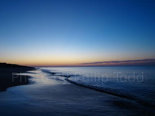 ocean sunset sun reflection beach water set sunrise nc north carolina rise holden