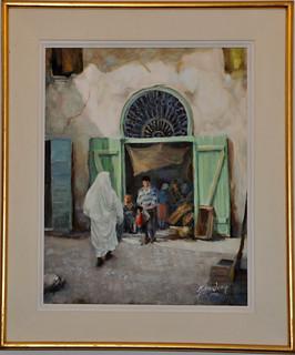 Tableau du peintre tunisien Mokhtar Hnen en 2004
