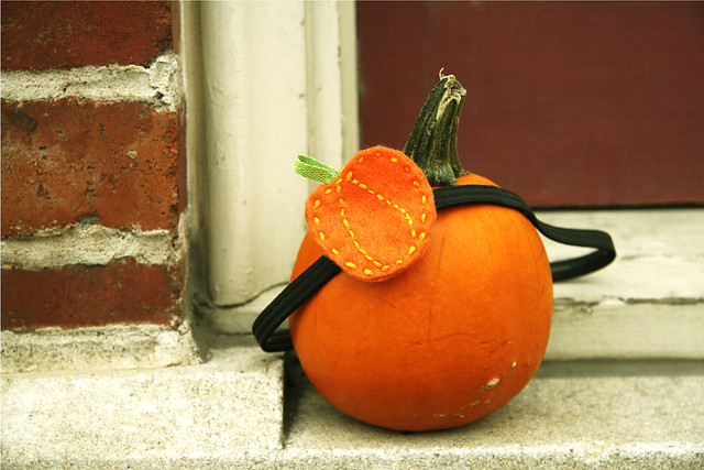Custom Halloween Pumpkin Headband Broach- Limited Edition