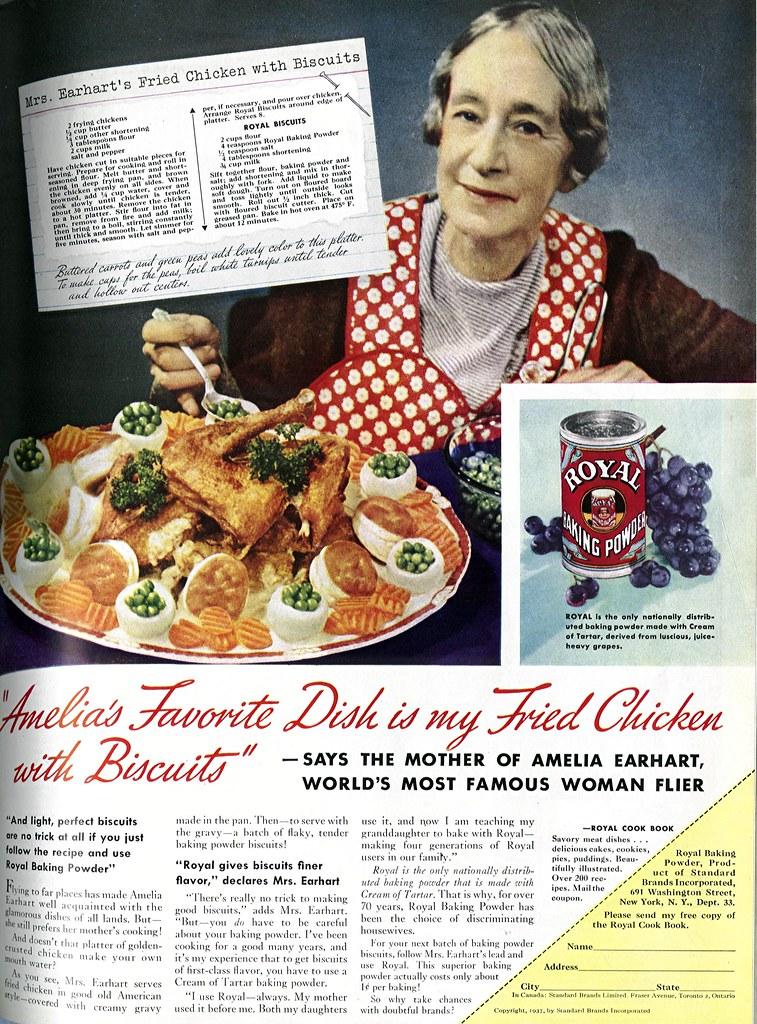 1937 - Amelia Earhart's Favorite Dish