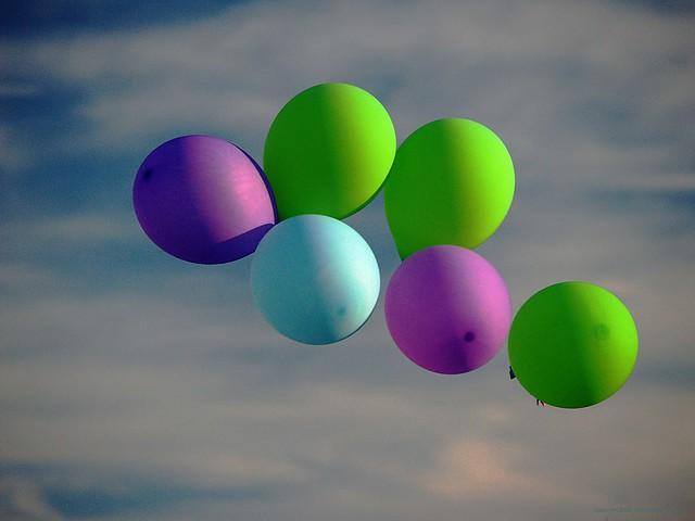 Baloons at Sunset