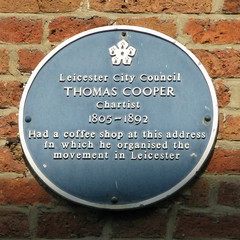 Photo of Thomas Cooper blue plaque