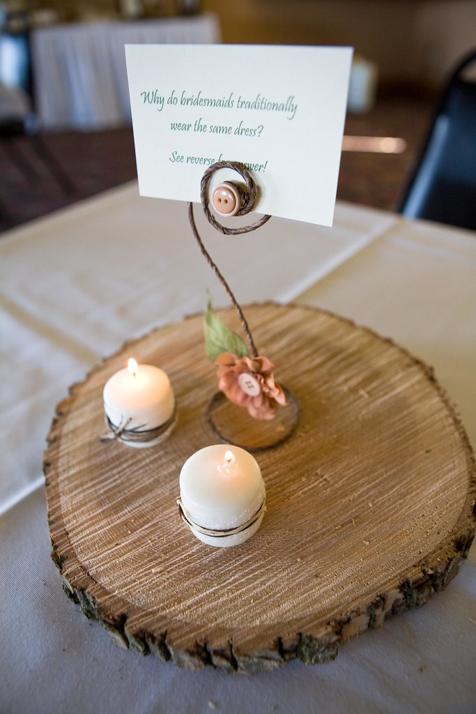 Quot did you know log centerpieces tons of diy inspiration