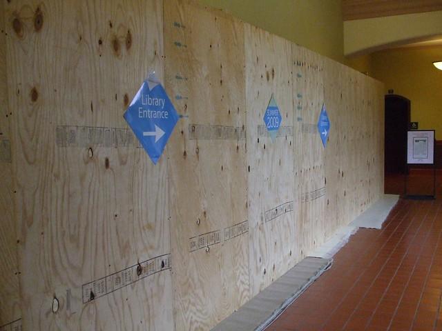 Temporary Plywood Wall Flickr Photo Sharing