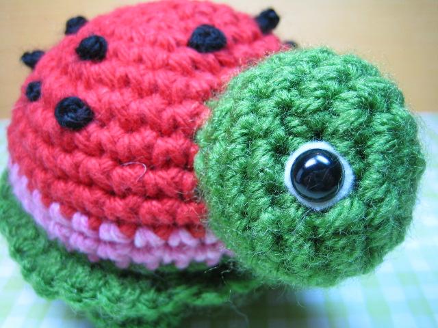 Amigurumi Watermelon Turtle : Watermelon Turtle Flickr - Photo Sharing!