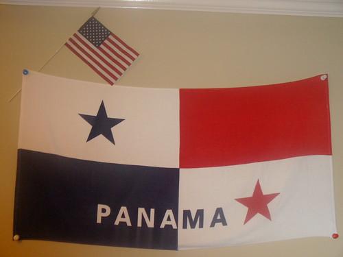 Panama and U.S Flags