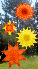 Window Stars for Autumn