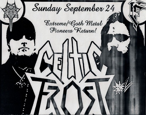 09/24/06 Celtic Frost/1349/Sahg/Teratism @ Minneapolis, MN (Flyer - Top)