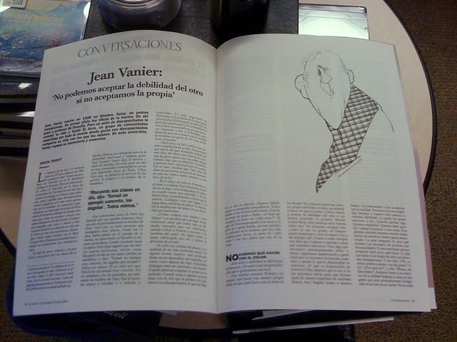 Krista an Jean Vanier in El Ciervo