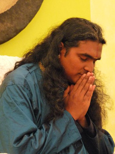 Darshan with Sri Swami Vishwananda in Vienna october 2009