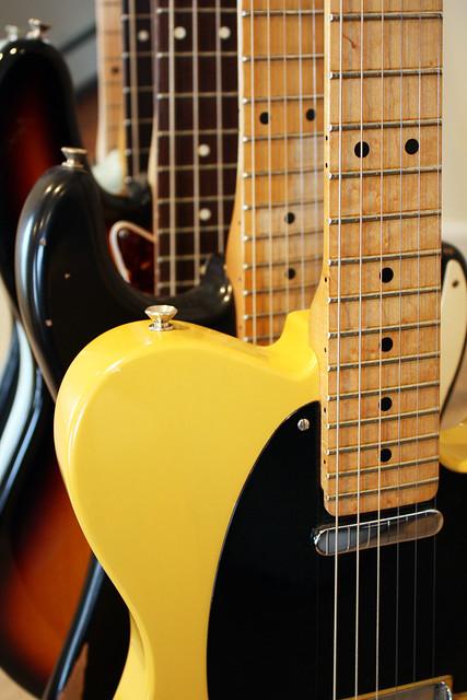 Photo:Fender Electric Guitars By jboylan67