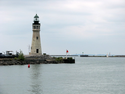 Lighthouse at Erie Canal Harbor Buffalo NY 1674
