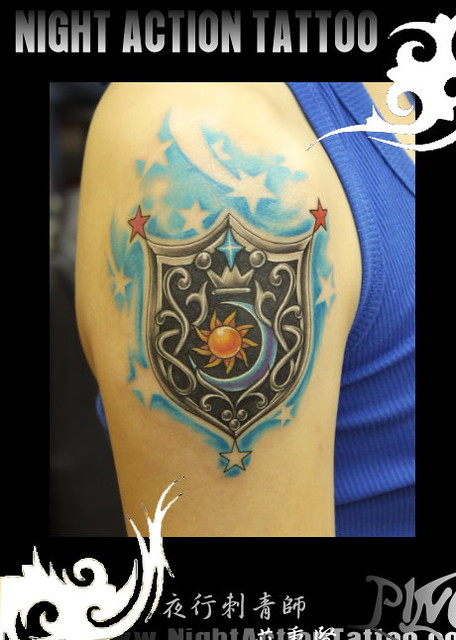 shield tattoo 盾牌刺青图片