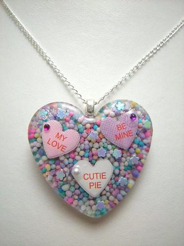 Valentine Conversation Heart Pendant