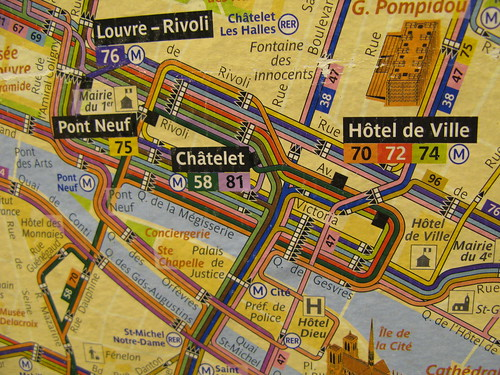 French Metro map, courtesy of flickr creative commons: flickr.com/photos/rebcal/4169800702/