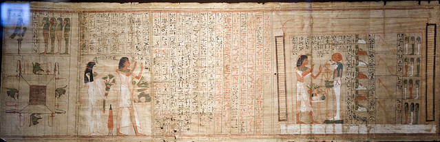 book of the dead of Paser (RMO Leiden, Thebe ~1050bc 21d, 40cmx365cm)