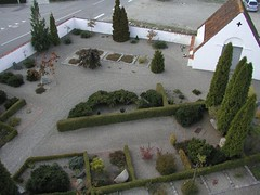 Kirkegården set fra vest - tårnfoto