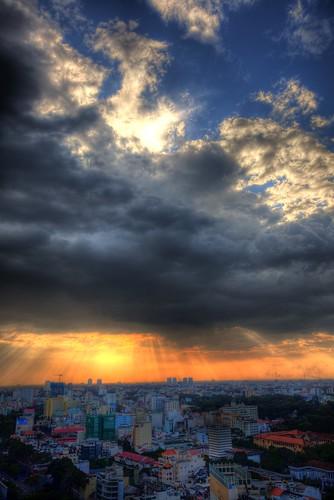 sunset vietnam hochiminhcity hdr siagon