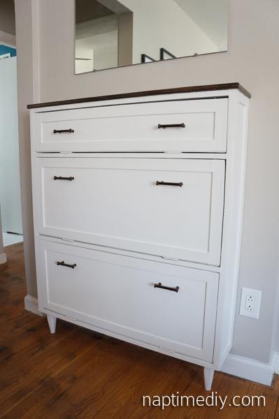 Shoe Dresser (NaptimeDIY.com)