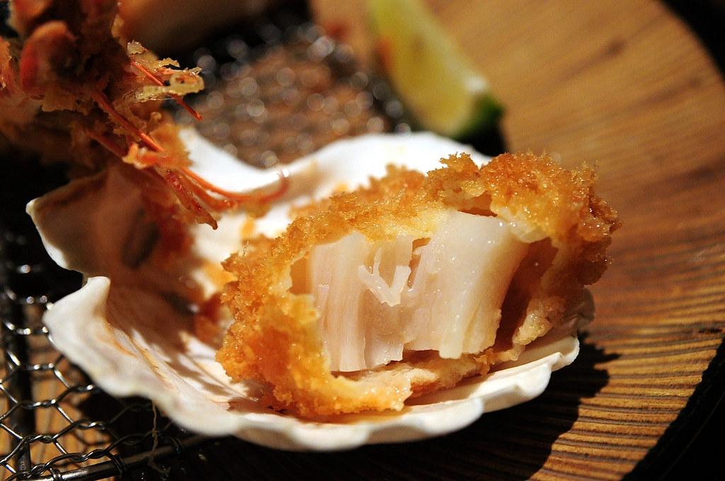 杏子豬排-干貝斷面