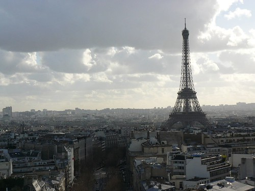 La Torre Eiffel desde el Arco del Triunfo