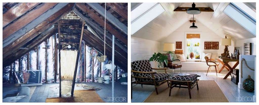 Attic Makeover Before After Hamptons Loft From Elle