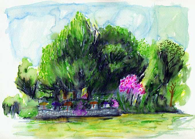 Poster marseille jardin anglais au parc bor ly le for Jardin anglais marseille