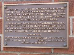 Photo of Clement Clarke Moore bronze plaque
