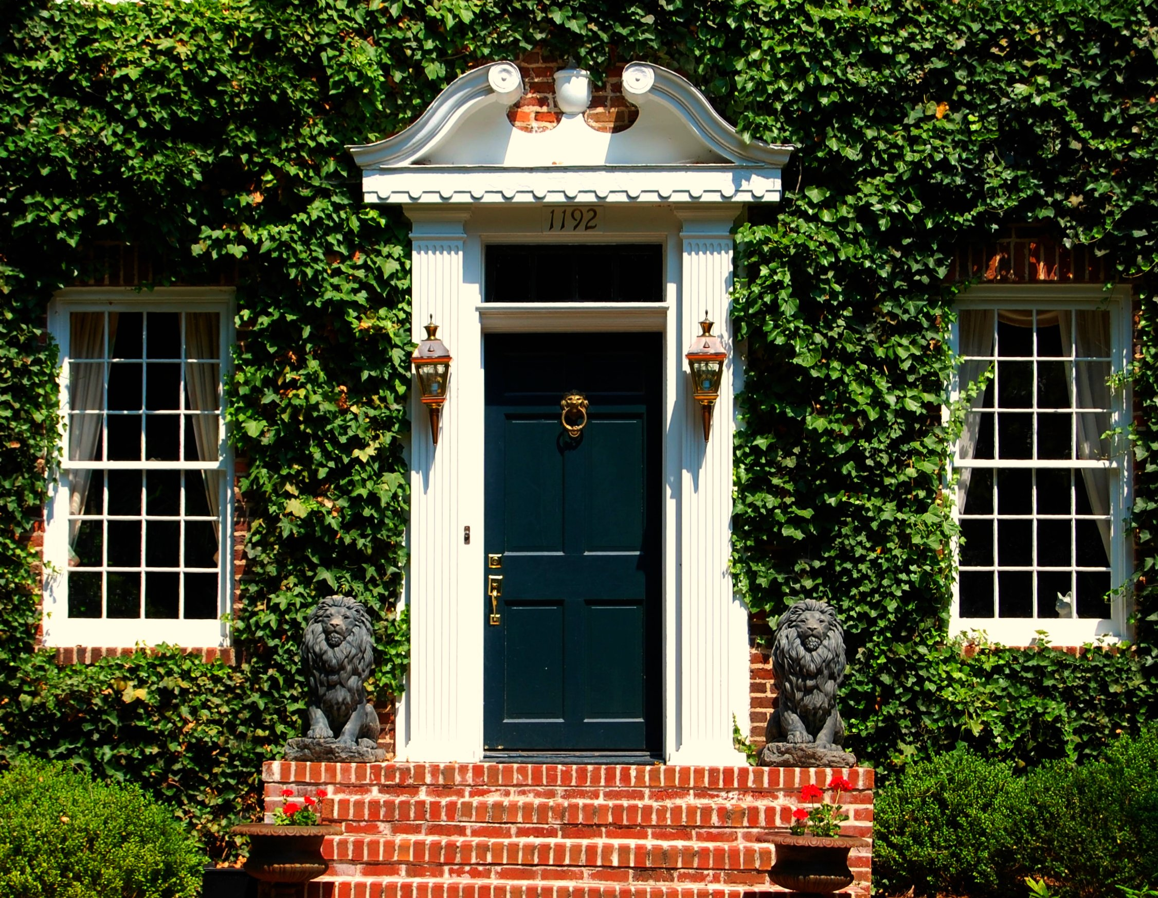 Front Door in Atlanta's Druid Hills Historic District