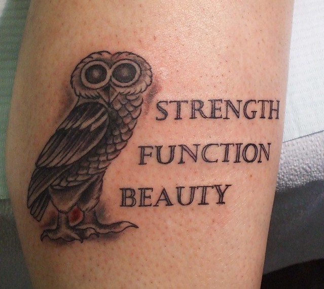 Tattoo owl flickr photo sharing for Athena owl tattoo