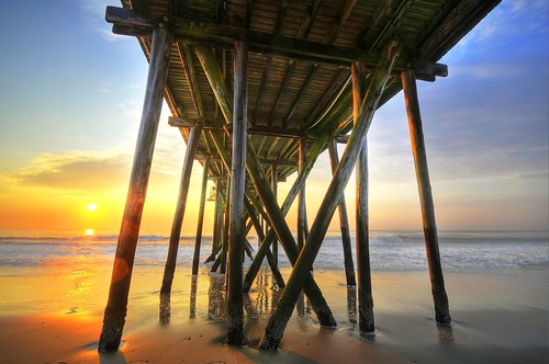 ocean beach sunrise pier newjersey fishing sand nikon quiet peace jetty underneath hdr