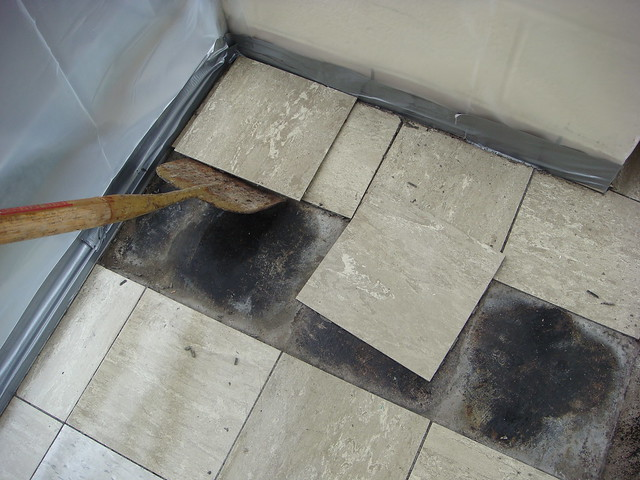 Asbestos floor tile abatement flickr photo sharing for Amiante maison ancienne