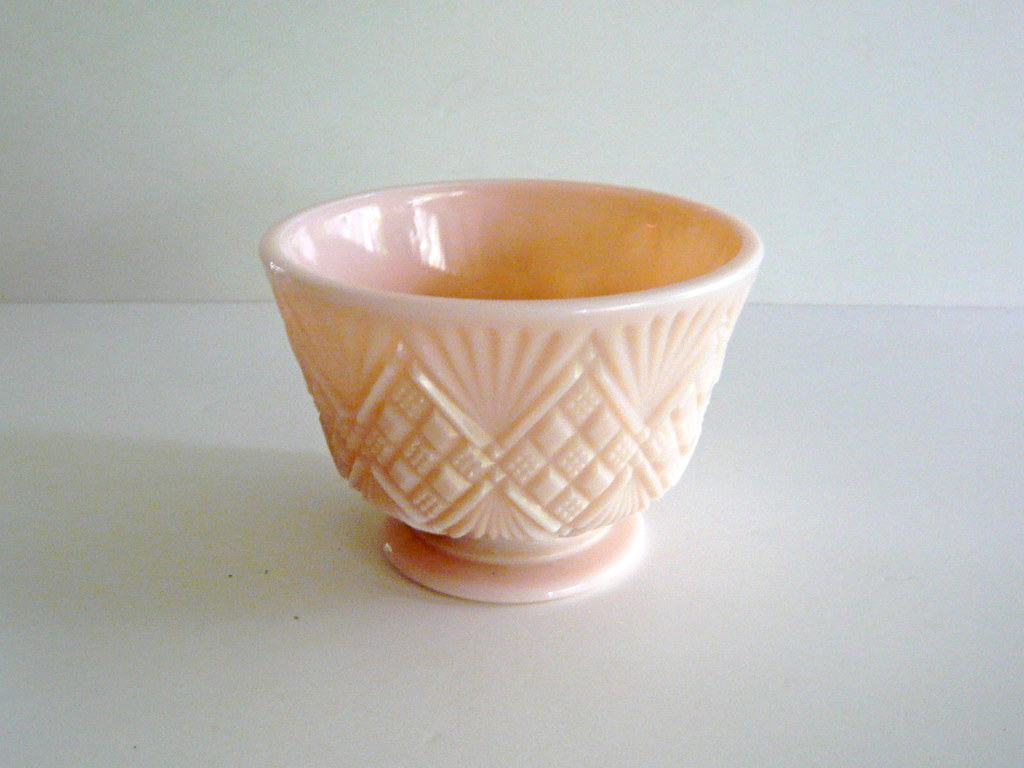 Pale pink milk glass