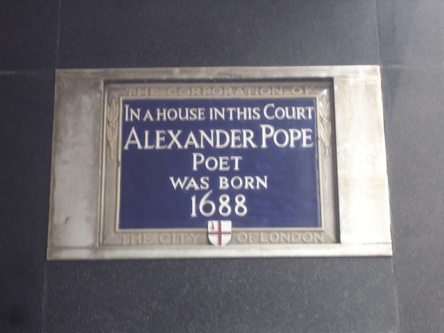 Header of Alexander Pope