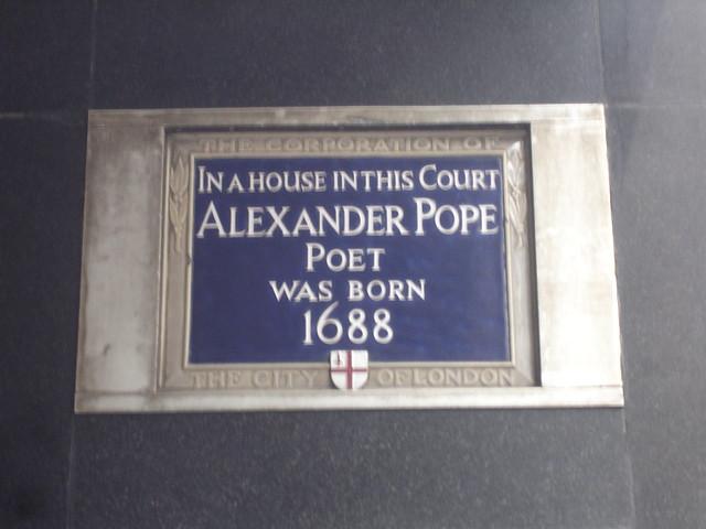 Header of Alexander Pope