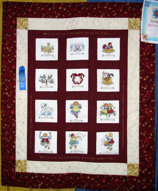 09 TN State Fair #45: 12 Days of Christmas Quilt