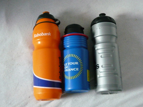 Cyclists Drink Bottles from Tour de France