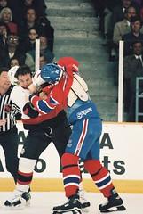 Hockey Fight Montreal Canadiens VS Ottawa Senators