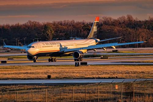 plane airplane geotagged nc airport nikon charlotte aircraft jet northcarolina aeroplane airbus hdr a330 topaz usairways clt tonemapped d80 charlottedouglas dougjohnson kclt topazadjust geo:lon=80955784 bigjohnsonphotoblogspotcom geo:lat=35224854