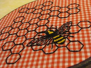 hexagons and bee 007