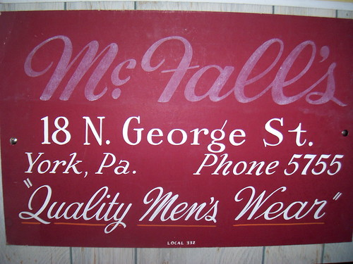 Vintage hand lettered showcard from York Pa by retrosigns