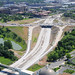 Obliques of construction on Highway 40 Interstate 64 between 170 and Kingshighway